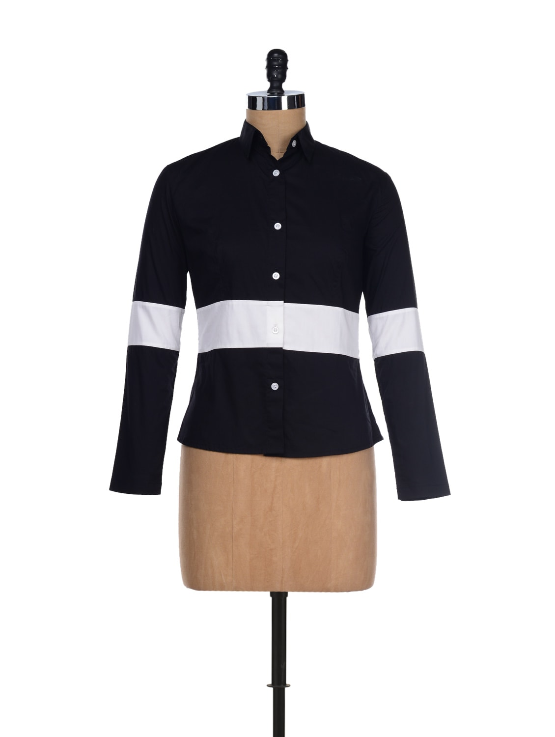 Black & White Colorblocked Shirt - I KNOW By Timsy & Siddhartha