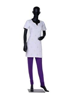 Purple Cotton Churidaar - Lux Leggings