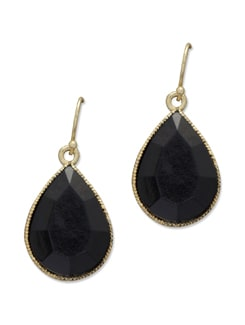 Black & Gold Drop Earrings - Trinketbag