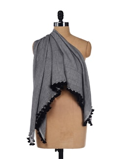 Classic Black Scarf - Story Of Weaves