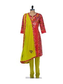 Exquisite Printed Cotton Suit - Rain And Rainbow