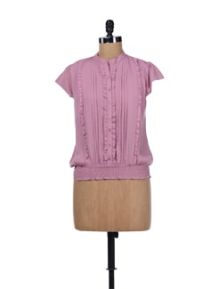 Powder Pink Ruffled Top - ESCA
