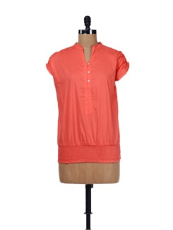 Orange Ruffled Top - ESCA