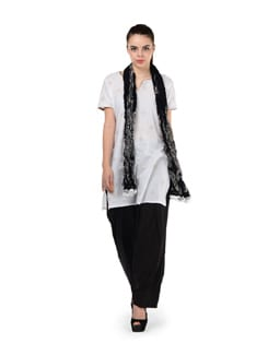 Black Semi Patiala Salwar With Dupatta - MY COLORS