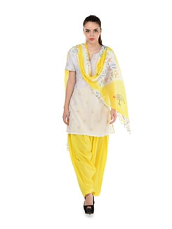 Sunshine Yellow Patiala Salwar & Dupatta - MY COLORS