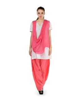 Peach Patiala Salwar With Dupatta - MY COLORS