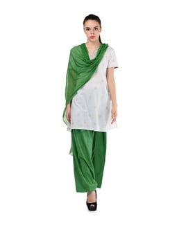Mehendi Green Patiala Salwar & Dupatta - MY COLORS