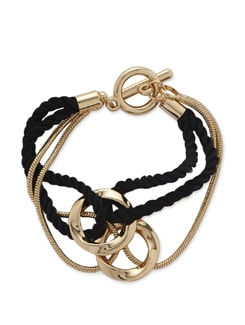 Gold & Black Twisted Thread Bracelet - Addons