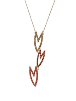 Gold & Orange Arrow Pendant Necklace - Addons