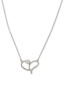 Silver Sling Heart Pendant Necklace - Addons