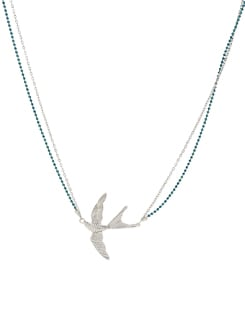 Silver Layered Eagle Pendant Necklace - Addons