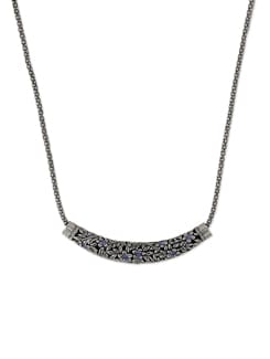 Silver Crescent Pendant Necklace - Addons