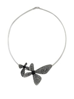 Silver Butterfly Pendant Necklace - Addons