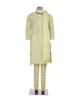 Beautiful Embroidered Yellow Suit - Ada
