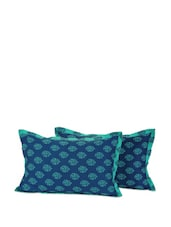 Blue Motif Pillow Covers - SWAYAM