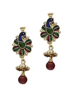 Elegant Multicoloured Peacock Earrings - Sparkling Deals