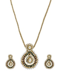 Ethnic Kundan Necklace Set - Sparkling Deals