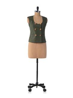 Green Marigold Waistcoat - Bring Home Stories