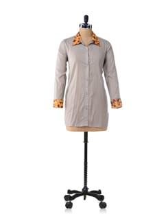 Grey Marigold Shirt - Bring Home Stories
