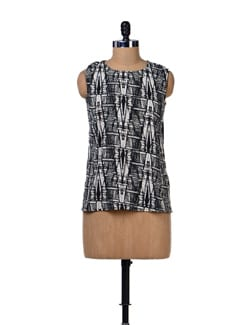 Abstract Print Top - Tops And Tunics