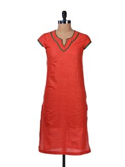 Bright Red Kurta - Tops And Tunics