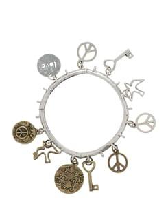 Gold & Silver Charm Bracelet - THE PARI