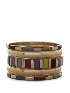 Dazzling Multicoloured Gold Bangles - THE PARI