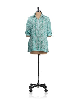 Shirt Style Kurti With Collar Detailing - KILOL
