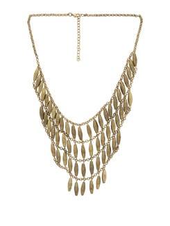 Chunky Gold Designer Necklace - THE PARI
