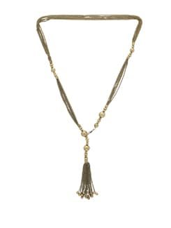 Gold Multichain Necklace With Beads - THE PARI
