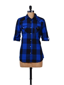 Bold Check Print Shirt - House Of Tantrums