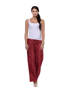 Geometric Print Palazzo Trousers - House Of Tantrums