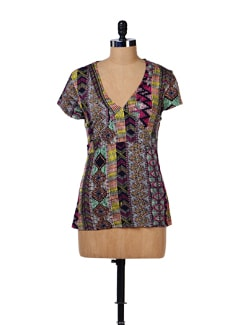 Printed Stretch Cotton Top - House Of Tantrums