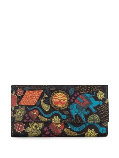 Madhubani Painting Print Clutch - Mad(e) In India