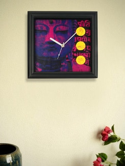 Buddha Print Wall Clock - Mad(e) In India