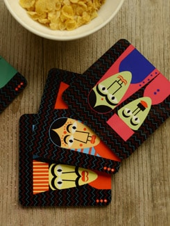 Puppet Coasters - Set Of 4 - Mad(e) In India