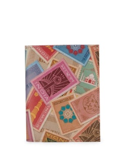 Indian Stamps Print Passport Holder - Mad(e) In India