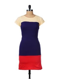 Charming Three-tone Dress - GRITSTONES