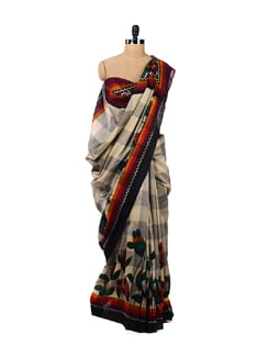 Designer Check Print Saree - ROOP KASHISH