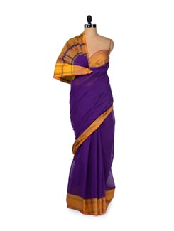 Double Shade Cotton Saree - DAMA