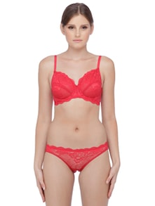 Bride Red Lace Trim Panty - Maya