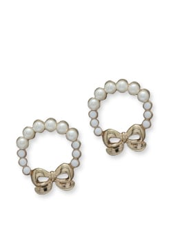 Pearl Bow Earring - Blend Fashion Accessories
