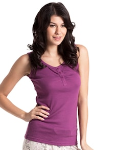 Sleeveless Purple Tank Top - PrettySecrets