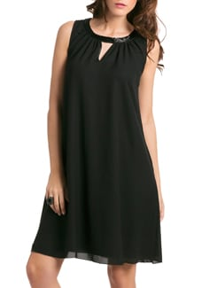 Black Goddess Beaded Dress - PrettySecrets