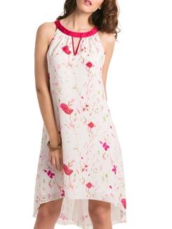 Prettysecrets Ivory Floral Lilly  A-line Dress - PrettySecrets