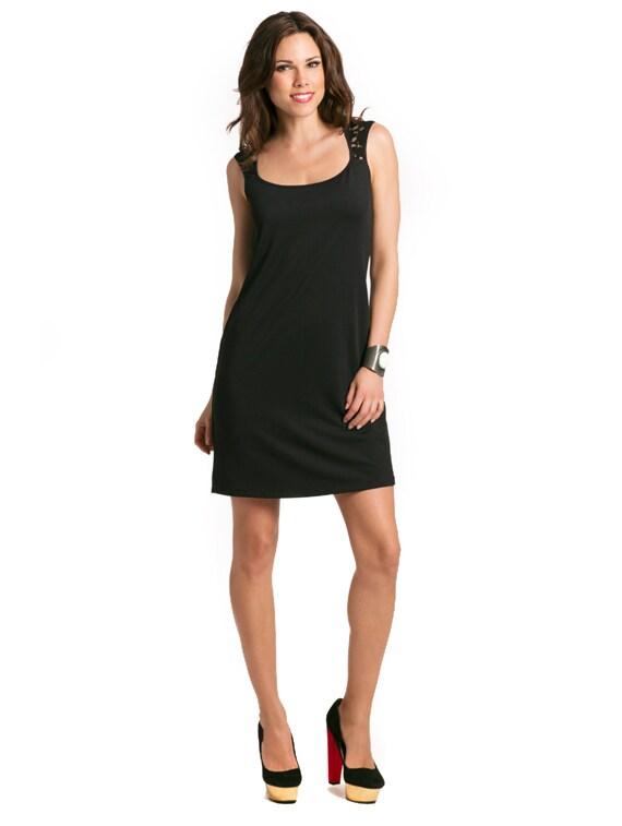 Black Open-back Lace Dress - PrettySecrets