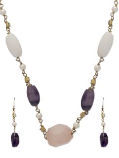 Elegant Multicoloured Stone Necklace - Ivory Tag