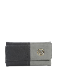 Black And Grey Two Toned Wallet - Lino Perros