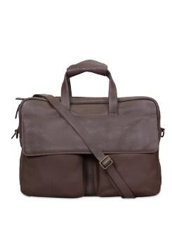 Brown Briefcase Cum Trolley - Brune
