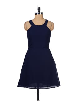 Elegant Navy Dress - Besiva